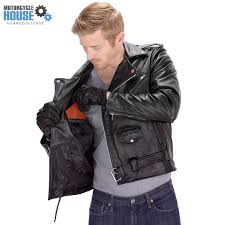 motorcycle jackets for men with armor amazon com viking cycle american eagle leather motorcycle jacket