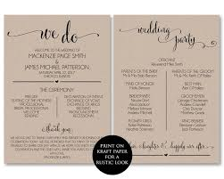 exles of wedding programs wording ceremony program template free 28 images best photos of