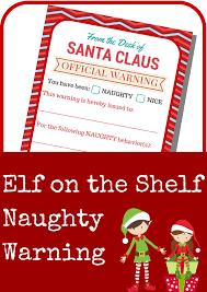 template for santa letter elf on the shelf naughty warning letter a grande life