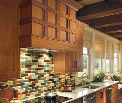 Rustic Kitchen With Cherry Wood Cabinets Omega - Rustic cherry kitchen cabinets