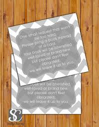 instead of a card bring a book baby shower in lieu of card book baby shower invitation inserts instead of a