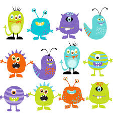 Halloween Cartoon Monsters by Monster Clipart Digital Monsters Set Of 12 Set 2 9 95 Via