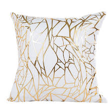 home decor drop shipping 45cmx45cm gold foil printing pillow case sofa waist throw cushion