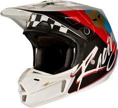 mens motocross helmets 299 95 fox racing mens v2 nirv dot approved motocross mx 995653