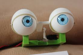 animatronic printed blinking eyes for puppets