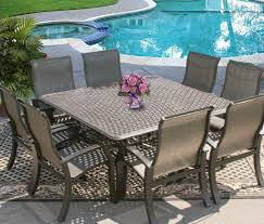 Sling Patio Dining Set Barbados Sling Outdoor Patio 9pc Dining Set For 8 Person With