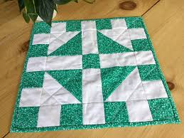 quilted square table toppers cute and colorful kelly green and white quilted square table topper