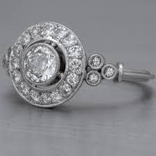 diamond rings art deco style rings u0026 bands