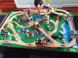 13 best train tracks images on pinterest wooden train train