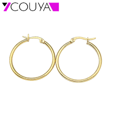 small gold hoop earrings stainless steel jewlelry oval small gold hoop earrings 316l