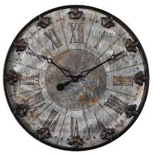 Fleur De Lis Home Decor And Accessories Fleur De Lis Old World Rustic French Country Wall Clock Round