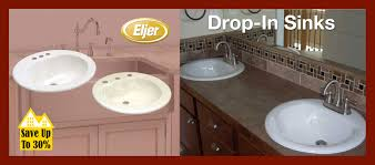 bathroom drop in sinks