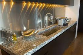 stainless kitchen backsplash colors that look with a stainless steel backsplash home