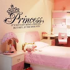 Bedroom Wall Letter Stickers Princess Crown Letter Removable Wall Stickers Art Decals Mural Diy