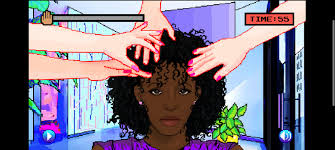 design hair game hair nah video game makes fun of white people who try to touch