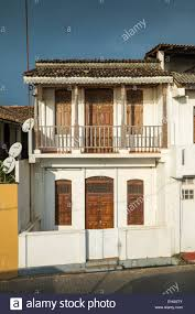 colonial houses colonial houses in fort galle sri lanka asia stock photo