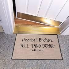 funny doormat broken doorbell brilliant inventions