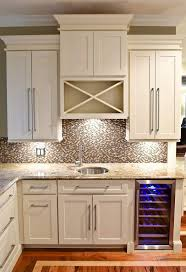 kitchen cabinet wine rack ideas bar built of white shaker cabinets with built in wine cooler