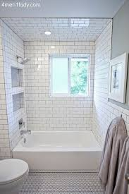 white tiled bathroom ideas bm s half crest moon gray paint white subway gray grout