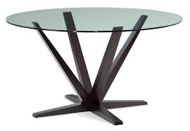 aura glass top dining table u2013 saloom furniture company