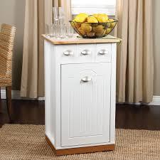 kitchen trash can storage cabinet white wooden storage cabinet with drawers and door with pics on