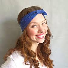 hippie hair accessories blue flower headband flower crown hippie from sawu awesome
