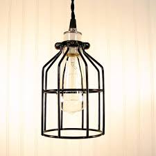 Chandelier With Edison Bulbs Cage Pendant Light With Edison Bulb The Lamp Goods