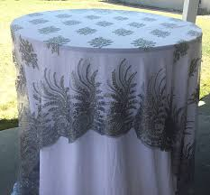 silver lace table overlay vintage wedding tablecloth silver lace tablecloth silver table