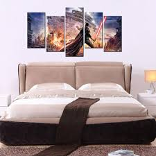 5 panel star wars wall decor canvas painting wall murals for