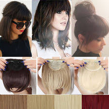 clip in fringe women s human bangs clip in hair extensions ebay