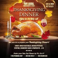 thanksgiving take out menu pony corral restaurant u0026 bar posts winnipeg manitoba menu