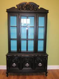 marvellous black corner china cabinet stunning decoration black