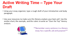 Examples Of Literary Criticism Essays Writer U0027s Workshop Literary Analysis Session 8 Ppt Download