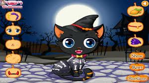 cute kitty cat halloween dress up game youtube