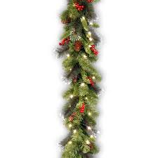 national tree pre lit 9 x 10 crestwood spruce garland with 50