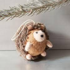 felt hedgehog ornament west elm au