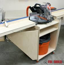 ana white mobile miter saw station diy projects