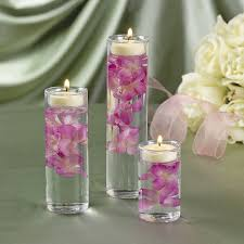 Bridal Shower Table Decorations 15 Glass 3 Pc Cylinder Tealight Candle Holders Wedding Bridal