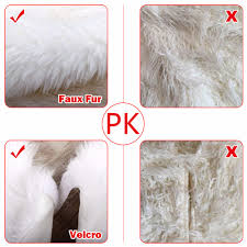 fur christmas luxury faux fur christmas tree skirt 48 inch new year white