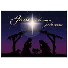 5x7 flat nativity card jesus is the reason for the season