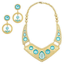 store necklace images Disney store jasmine necklace and earing set costume jpg
