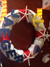 nautical baby shower idea life preserver made from diapers