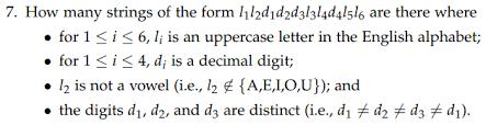 how many strings of the form l1l2d1d2d3l3l4d4l5l6 chegg com