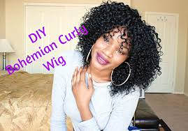 curly black bohemian hair diy making my bohemian curly wig feat outre velvet brazilian
