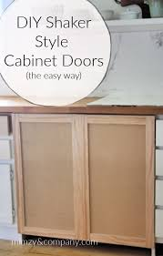 how to make simple shaker cabinet doors diy shaker cabinet doors the easy way mimzy company