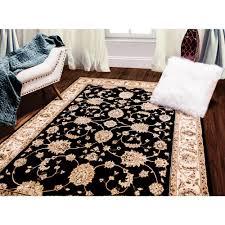 Home Depot Rugs Sale Bazaar Floral Heirloom Black Ivory 5 Ft 2 In X 7 Ft 6 In