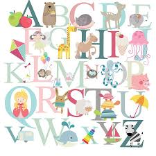 alphabet wall stickers stickerscape ilrated animal alphabet wall alphabet fabric wall stickers