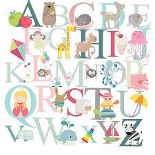alphabet fabric wall stickers by littleprints notonthehighstreet com alphabet fabric wall stickers