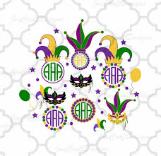 mardi gras frames mardi gras masquerade mask monogram frame set jester crown new