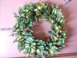 bethlehem lights 36 pine oversized wreath clear lights ebay